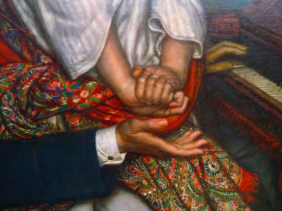 Detail of William Holman Hunt, The Awakening Conscience.